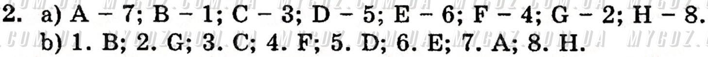 ГДЗ номер 2 до підручника з англійської мови Несвіт 5 клас
