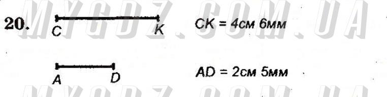 ГДЗ номер 20 до робочого зошита з математики Мерзляк, Полонський 5 клас