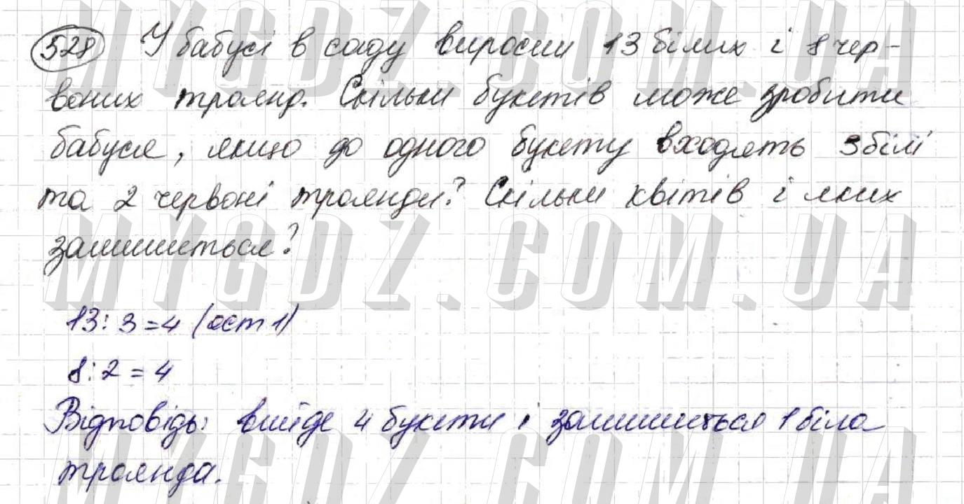 ГДЗ номер 528 до підручника з математики Тарасенкова, Богатирьова 5 клас