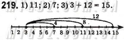 ГДЗ номер 219 до підручника з математики Тарасенкова, Богатирьова 5 клас