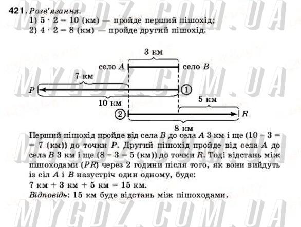 ГДЗ номер 421 до підручника з математики Мерзляк, Полонський 5 клас