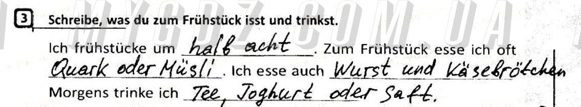 ГДЗ номер 3 до робочого зошита з німецької мови Сотникова, Гоголєва 5 клас