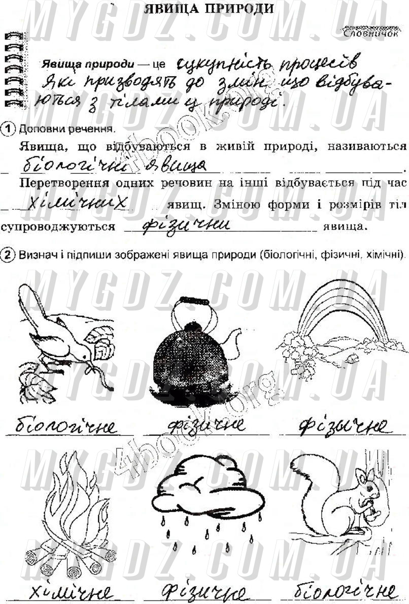 ГДЗ стр22 до робочого зошита з природознавства Коршевнюк, Ярошенко 5 клас