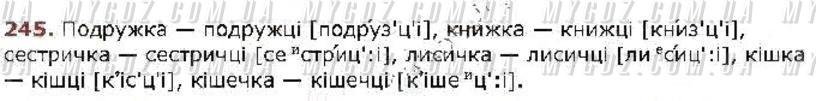 ГДЗ номер 245 до підручника з української мови Глазова 5 клас