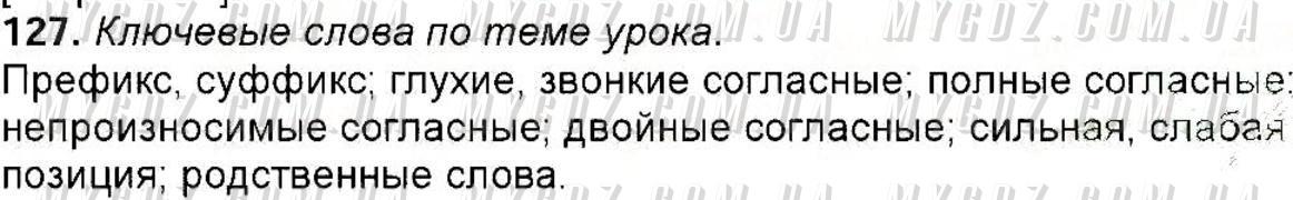 ГДЗ номер 127 до підручника з російської мови Полякова, Самонова 6 клас