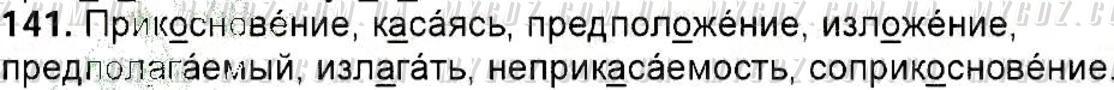 ГДЗ номер 141 до підручника з російської мови Полякова, Самонова 6 клас