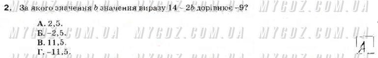 ГДЗ номер 2 до зошита для контролю навчальних досягень учнів з алгебри Тарасенкова, Богатирьова 7 клас