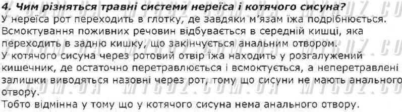 ГДЗ номер 4 до підручника з біології Костиков, Волгін 7 клас