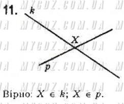 ГДЗ номер 11 до підручника з геометрії Бевз, Бевз 7 клас