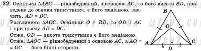 ГДЗ номер 32 до підручника з геометрії Бурда, Тарасенкова 7 клас