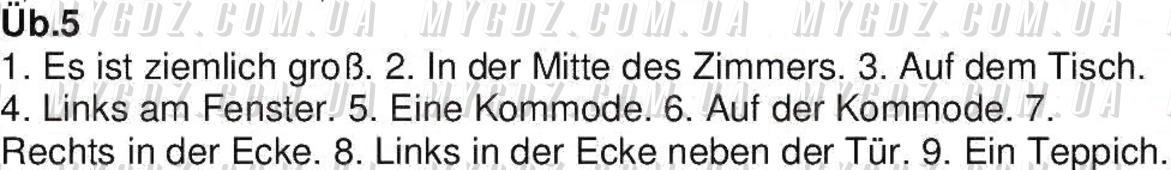 ГДЗ номер 5 до підручника з німецької мови Сотникова 7 клас