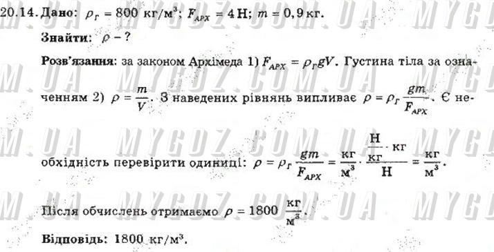 ГДЗ номер 14 до збірника задач з фізики Гельфгат, Ненашев 7 клас