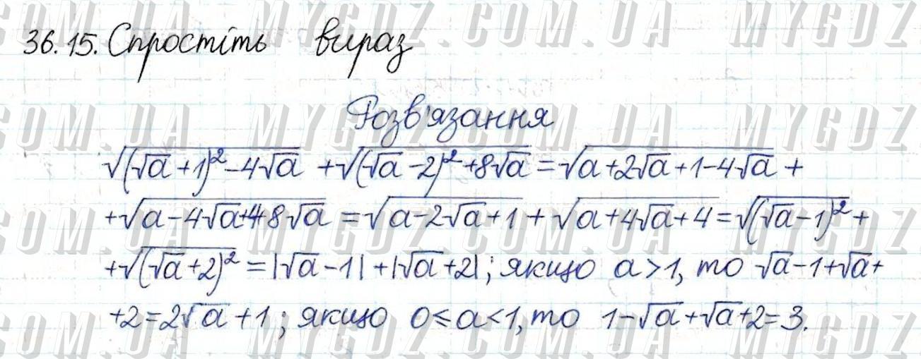 ГДЗ номер 15 до підручника з алгебри Мерзляк, Полонський 8 клас