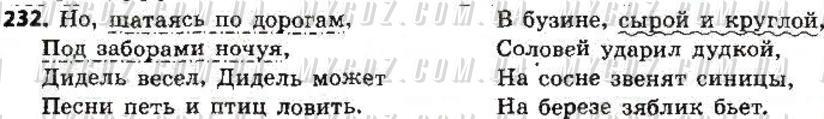 ГДЗ номер 232 до підручника з російської мови Быкова, Давидюк 8 клас