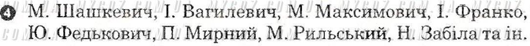 ГДЗ номер 4 до комплексного зошита для контролю знань з української літератури Паращич 8 клас