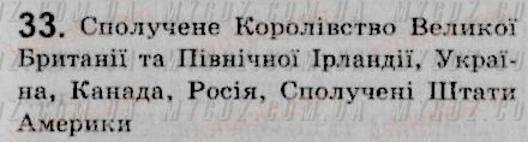 ГДЗ номер 33 до підручника з української мови Єрмоленко, Сичова 8 клас