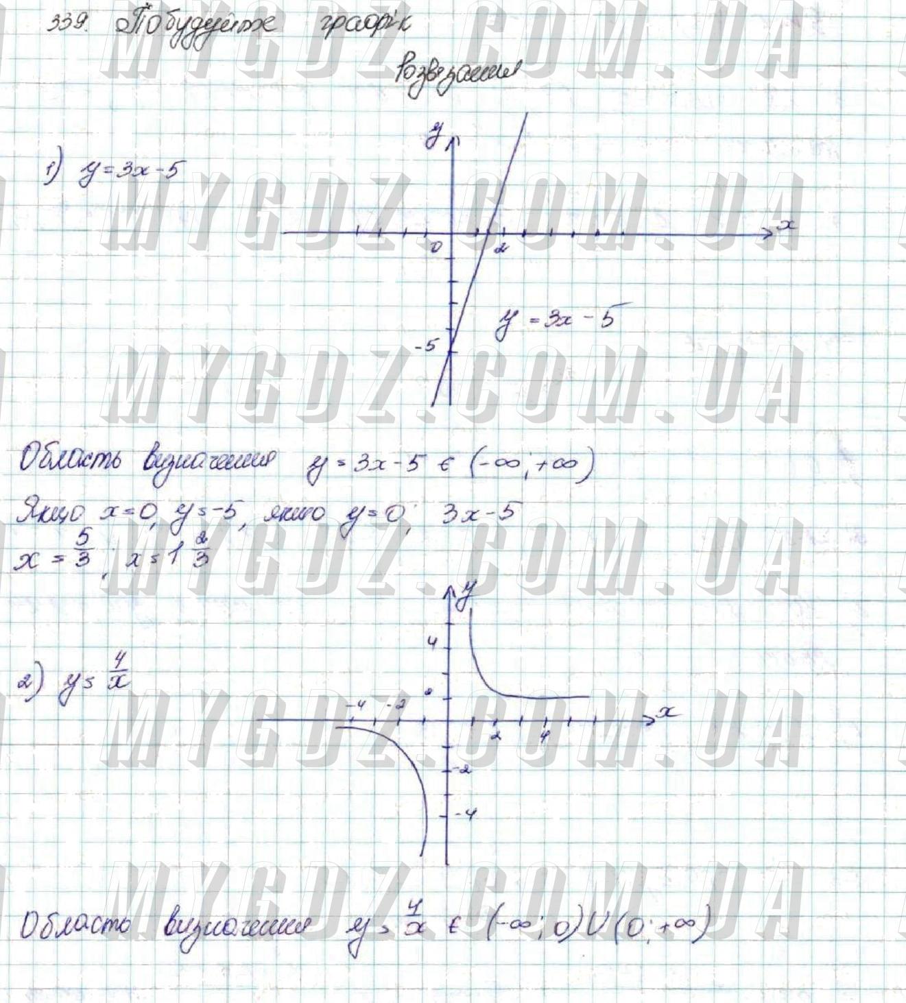 ГДЗ номер 339 до підручника з алгебри Істер 9 клас