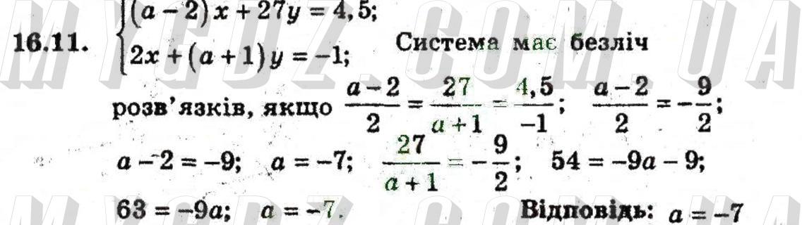 ГДЗ номер 11 до підручника з алгебри Мерзляк, Полонський 9 клас