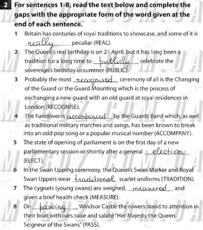 ГДЗ номер 2 до збірника контрольних робіт з англійської мови Пахомова, Бондар 9 клас