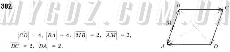 ГДЗ номер 302 до підручника з геометрії Бурда, Тарасенкова 9 клас