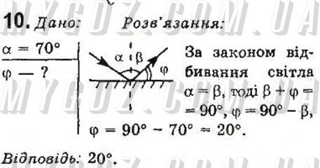 ГДЗ номер 10 до підручника з фізики Божинова, Бар'яхтар 9 клас
