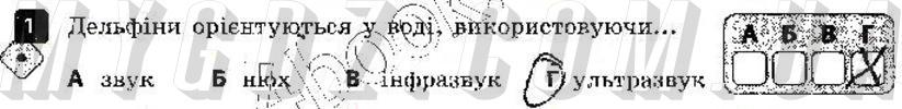 ГДЗ номер 1 до зошита для контролю навчальних досягень учнів з фізики Божинова, Кірюхіна 9 клас