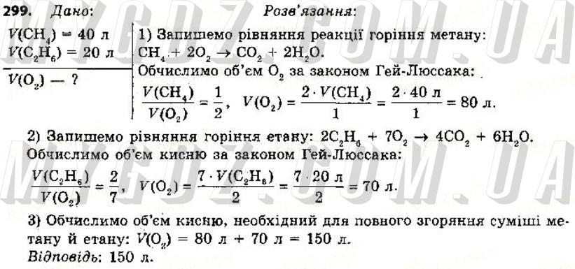 ГДЗ номер 299 до підручника з хімії Григорович 9 клас