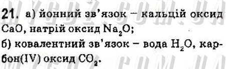 ГДЗ номер 21 до підручника з хімії Григорович 9 клас
