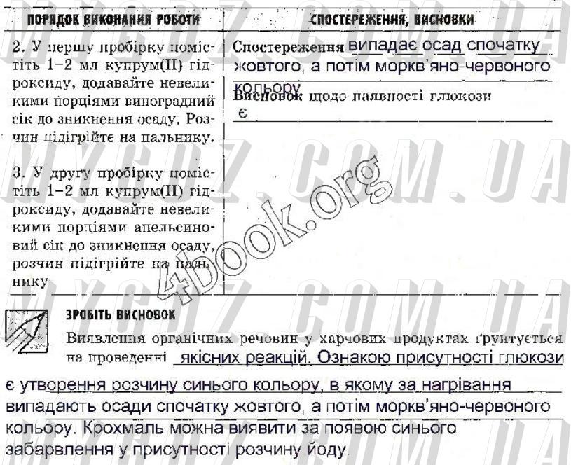 ГДЗ ст43 до зошита для лабораторних дослідів і практичних робіт з хімії Григорович, Черевань 9 клас