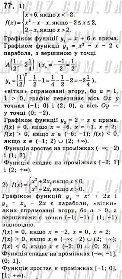 ГДЗ номер 77 2010 Мерзляк, Номіровський 10 клас