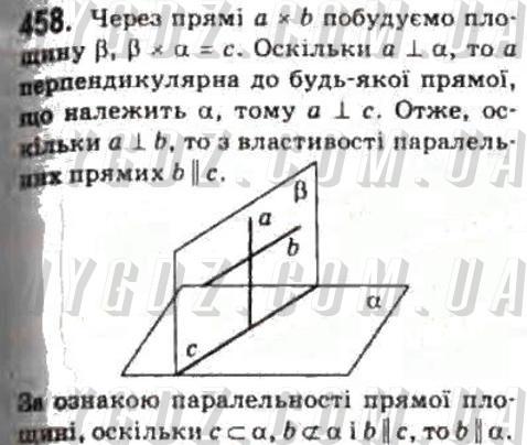ГДЗ номер 458 2010 Бурда, Тарасенкова 10 клас