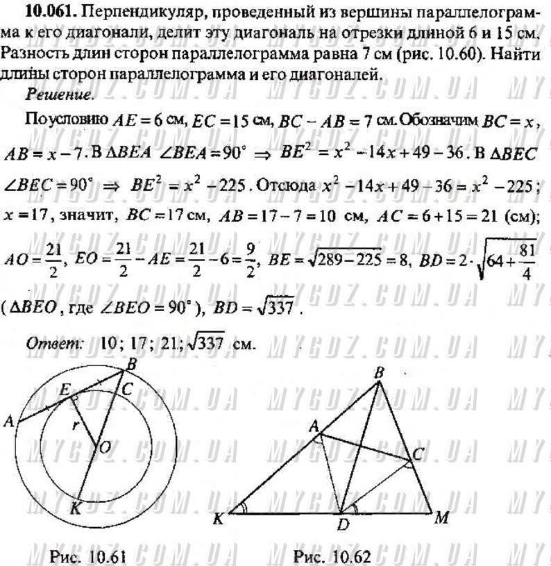 ГДЗ номер 61 2013 Сканаві 11 клас