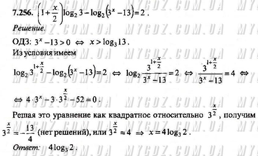 ГДЗ номер 256 2013 Сканаві 11 клас