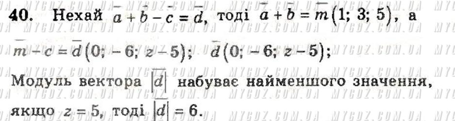 ГДЗ номер 40 2011 Мерзляк, Полонський 11 клас